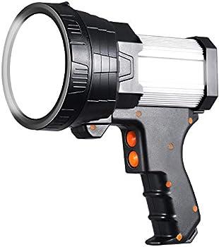 Beteray Rechargeable 6000 Lumen Handheld Spotlight with 6 Light Modes