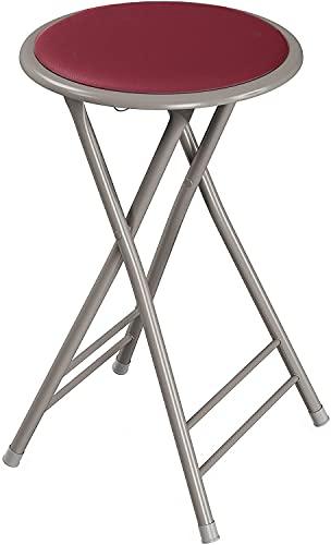GREATOOL -Taburete Plegable de Aluminio con Asiento Acolchado, Pack 2 Unidades para...