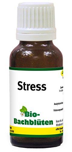 cdVet Naturprodukte Bio-Bachblüten Stress 20 ml - Hund, Katze Pferd - Stress+Panik+Anspannung+Furcht - Silvester -bei Tierarztbesuch - ohne Alkohol+Zucker - Bio-zertifiziert - Nachtkerzenöl -