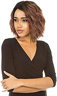 [Lace Front Wig] Magic Lace Natural Curved Part Wig Synthetic Full Wig - MLC188 (CACAO_BROWN)