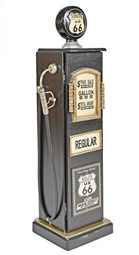 ts-ideen Retrolook CD DVD Schrank Regal Aufbewahrung Retro Design Zapfsäule Tankstelle schwarz 88 x 23 cm