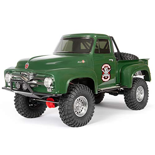Axial SCX10 II 1955 Ford F-100 RC Rock Crawler 4WD Truck RTR with 2.4GHz Radio System (Battery and Charger Not Included): 1/10 Scale, AXI03001T2 Green