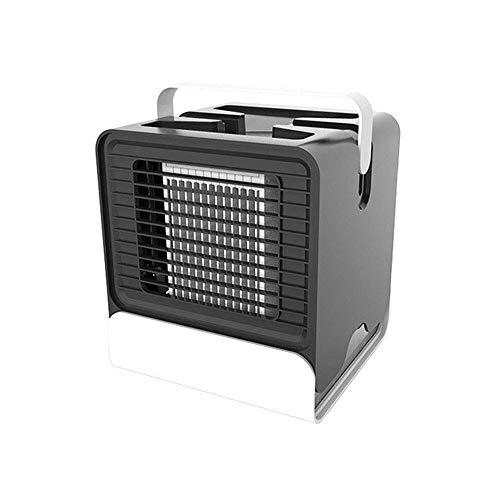 3 In 1 Mini Luftkühler Air Cooler Leiser, USB Luftkühler 3 Leistungsstufen Tragbare KÜhler Ventilator Klimagerät Klima Tragbar Haushalt Camping Büro-schwarz