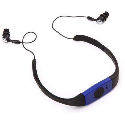 E-Plaza 4GB Swimming Diving Water IPX8 Waterproof MP3 Player FM Radio Earphone (Blue)