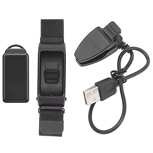 Pwshymi Pulsera Inteligente para Auriculares Bluetooth, Auriculares inalámbricos con Bluetooth, Pulsera con Monitor de Temperatura combinada con Carga USB para Hombres y Mujeres