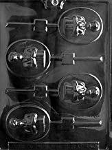 Cybrtrayd R046 Boy Communion Lolly Chocolate Candy Mold with Exclusive Cybrtrayd Copyrighted Chocolate Molding Instructions plus Optional Candy Packaging Bundles