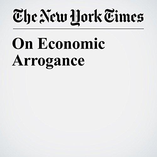 On Economic Arrogance copertina