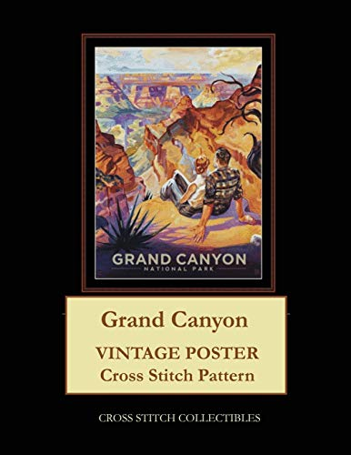 Grand Canyon: Vintage Poster Cross Stitch Pattern