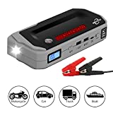 2000A Car Jump Starter Box Portable Car Truck Motorcycle SUV Tractor 8L Gas/6L Diesel Engine 12V Emergency Battery Pack Booster 20800mAh Power Bank USB Charger Flashlight LCD Screen Safety Protection