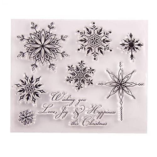 Transparent Stempel Schneeflocke-Weihnachts Klare Stempel Gummi Silikon Scrapbooking Für Die Karte Album Craft Decor
