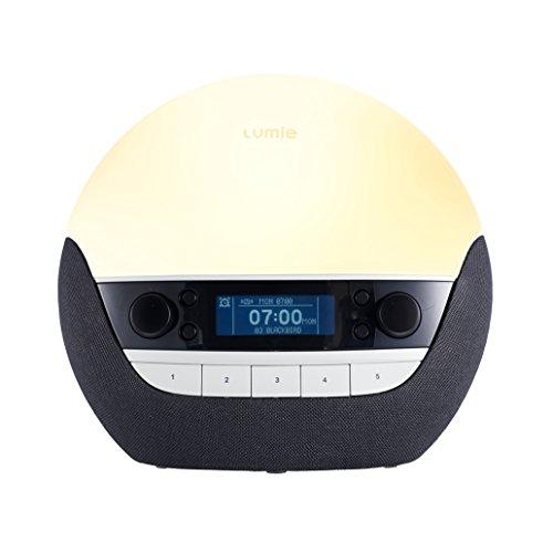 Lumie Bodyclock Luxe 700 - Lichtwecker mit Bluetooth-Audio und einer Nachttischlampe mit Wenig Blaulicht
