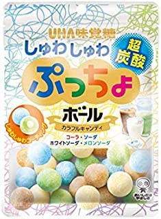 UHA味覚糖 ぷっちょボール しゅわしゅわ炭酸アソート袋 50g ×6袋