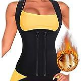 Litthing Chaleco Deportivo de Yoga para Mujer Fitness Sauna Neopreno Chaleco de Entrenamiento Compresión Establecer Estatua para Deporte Fitness (Cremallera de Doble Fila, XL)