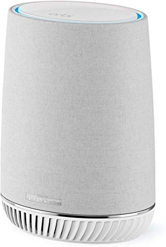 NETGEAR ORBI Système Wifi Mesh amplificateur intégrant assistant Alexa Echo et enceinte connectée Harman Kardon RBS40V (1 satellite extender additionnel)...