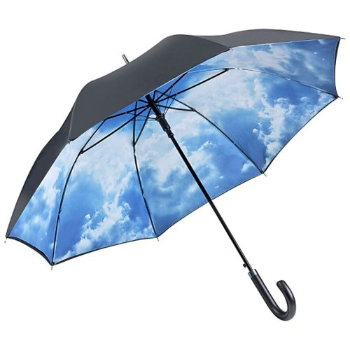 VON LILIENFELD Regenschirm Wolken Hamburger Himmel Auf-Automatik Stabil Damen Herren Double-Layer