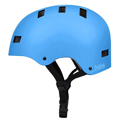 Critical Cycles Classic Commuter Bike/Skate/Multi-Sport CM-1 Helmet with 10 Vents, Matte Sky Blue, Small: 51-55 cm / 20 - 21.75 inches