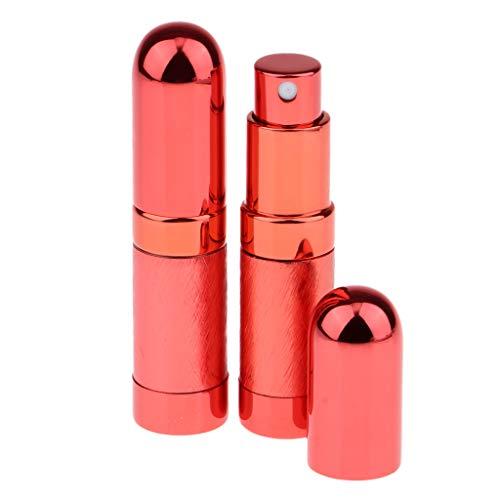 MERIGLARE 2pcs 6ml Portable Mini Parfum Rechargeable Bouteille Vide Pour échantillon Coloré - Rouge