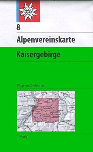 Kaisergebirge: Wege und Skitouren, 1:25.000: Topographische Karte (Alpenvereinskarten)