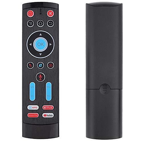 Telecomando vocale intelligente wireless 2.4G, compatibile con box TV Android, computer, ipad, ecc, Distanza wireless fino a 10 metri, telecomando giroscopico a sei assi (voce solo in inglese)