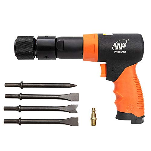 WORKPAD 190mm Long Barrel Air Hammer with Quick Change Chisel