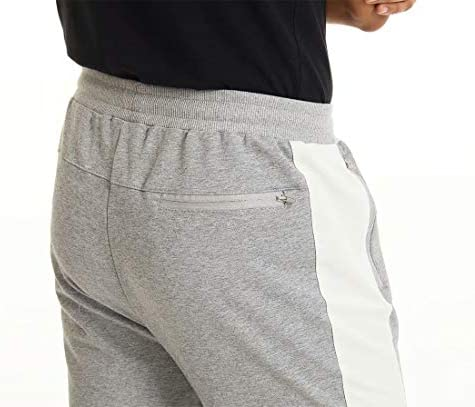 MAGCOMSEN Men's Tapered Color Block Gym Jogger Pants Workout Sweatpants Zipper Pockets Running Pants