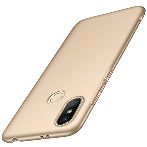 Anccer Funda Xiaomi Redmi S2 [Serie Colorida] [Ultra-Delgado] [Ligera] Anti-rasguños Estuche para Carcasa Xiaomi Redmi S2 (Oro Liso)