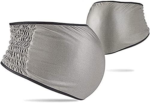放射線防護ベリーバンド、EMF シルバーファイバーレース360°シールドマタニティドレス、アンチRF電磁5G信号シールド用,Silver-L