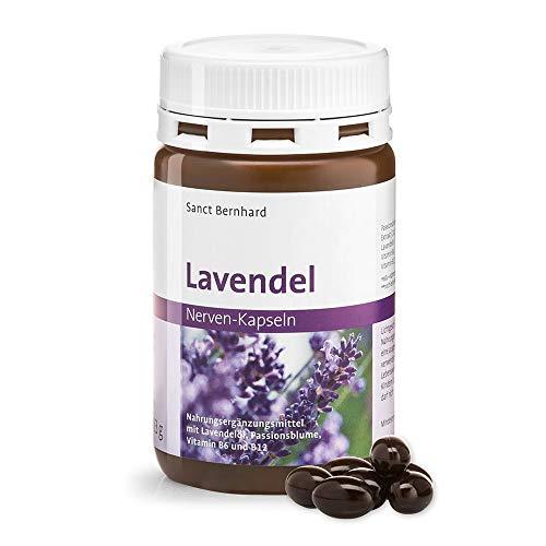 Sanct Bernhard Lavendel Nerven-Kapseln mit Passionsblumen-Extrakt, Lavendelöl, Vitamin B6 und B12, Inhalt 120 Kapseln