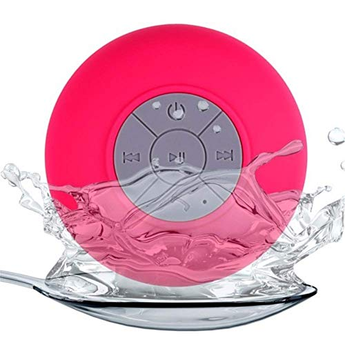 LHFLU-SP Mini Altavoz Bluetooth Manos Libres Inalámbrico Portátil Inalámbrico Inalámbrico, para Duchas, Baño, Piscina, Coche, Playa y Superar,Rosado