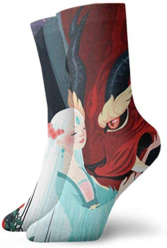 Yuanmeiju Unisex Adult Novelty Funny Crazy Crew Sock Women and Dragon 3D Printed Winter Thick Sport Athletic Socks Personalized Gift Socks