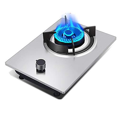 HJJ Table de Cuisson à gaz de brûleur de 42cm en Verre intégré ou en Acier Inoxydable et en émail respectueux de l'environnement et Durable, avec Kit GPL et FFD [Classe énergétique A] (Color : B)