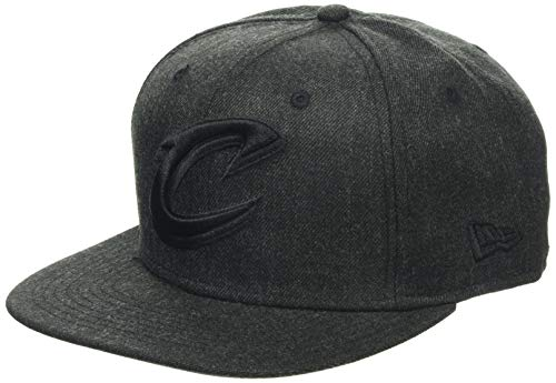 New Era Herren Total Tone Snapback 9FIFTY Cleveland Caveliers NBA Cap, Black