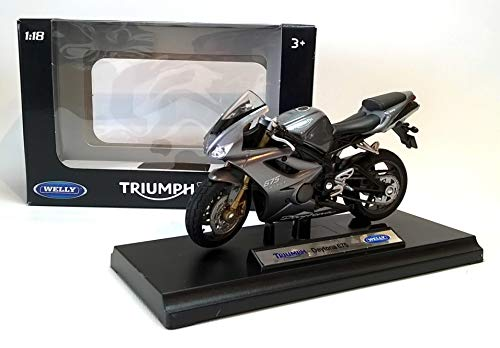 DieCast Model Motorcycle TRIUMPH DAYTONA 675 - Grey by Welly 1:18