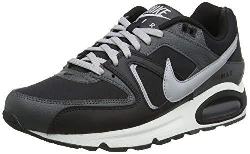 Nike Air MAX Command Leather, Zapatillas para Correr Hombre, Black Wolf Grey Iron Grey White, 40.5 EU