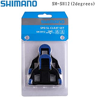 Taiguanxin-LYYX Genuine Shimano Cleats SPD SPD-SL Road Pedal Cleats Dura Ace,Ultegra SM-SH11 SH-10 SH-12 Bike Auto-Lock Plate Float Pedal Cleats (Blue)