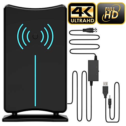 Updated 2020 Version Professional 75-150 Miles TV Antenna, Indoor TV Digital HD Antenna 4K HD Freeview Life Local Channels All Type Television