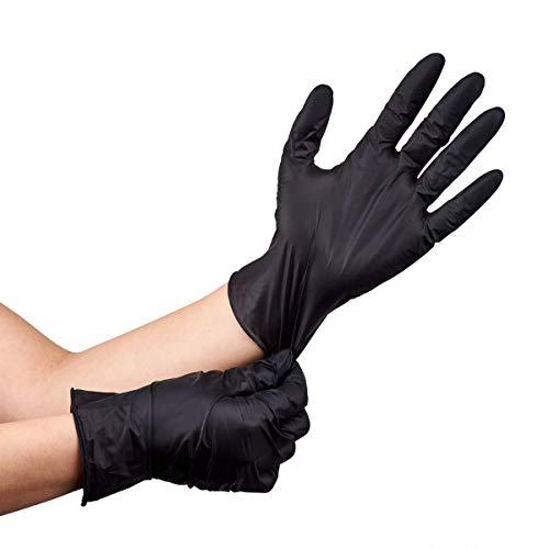 Nitrile Powder-Free Gloves (Black) - Large - 100 ct