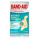 Band-Aid Brand Hydro Seal Adhesive Bandages for Wound Care and Blisters, All Purpose Waterproof Bandages for Cuts and Scrapes, 10 Count