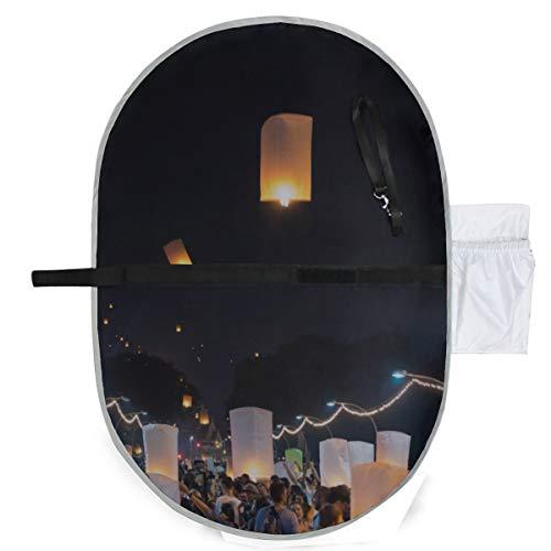 Kongming lanterne au-dessus des champs du soir matelas à langer pour enfants bébés matelas à langer 27x10 pouces imperméable tapis pliable bébé portable station de changement sac à langer sac à lange