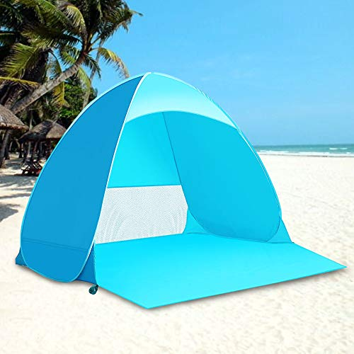 Kratax Tienda de Playa Luz Ultravioleta, Impermeable, Plegable, al Aire Libre, Tienda...