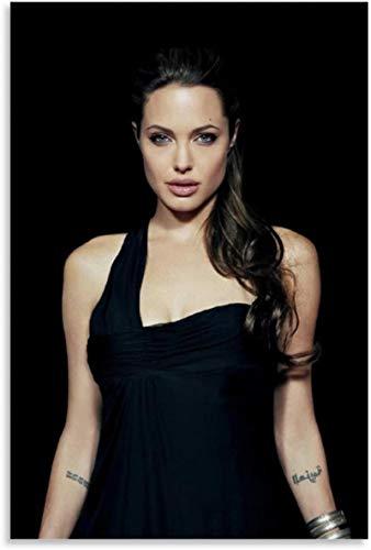 Lienzo Y Arte De Pared PóSter 60x90cm Angelina Jolie Tomb Raider Lara Decoración de exhibición de Sala de Estar Pintura Pared Y Estampados Cuadros Sin Marco