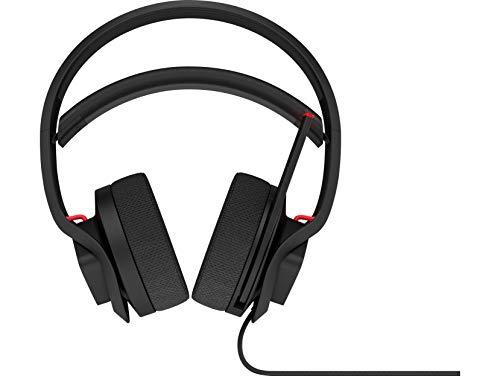 HP Omen X Mindframe - Auriculares gaming (tecnología de refrigeración, sonido envolvente 7.1 virtual, iluminación RGB, control en el casco) negro y rojo