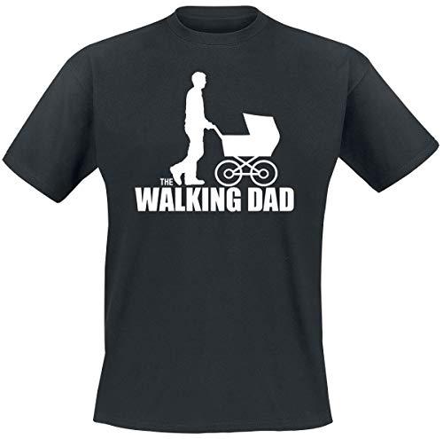 The Walking Dad Uomo T-Shirt Nero L 100% Cotone Regular