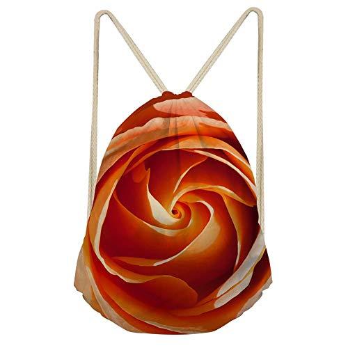 QWE Colorful Flower Unisex Adult Drawstring Backpack Rucksack Gym Bag DOISLL (Color : Flower 1)