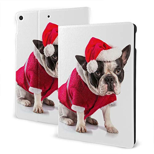 French Bulldog Christmas Case for iPad 8th Generation Case 10.2 inch Smart Cover with Auto Wake/Sleep Slim Stand Hard Back