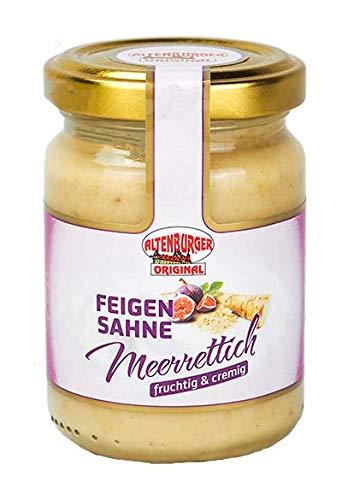 Altenburger Original Feigen Sahne Meerrettich, 140g im Glas, fruchtig-cremiger Genuss passend zu Wild und Käse