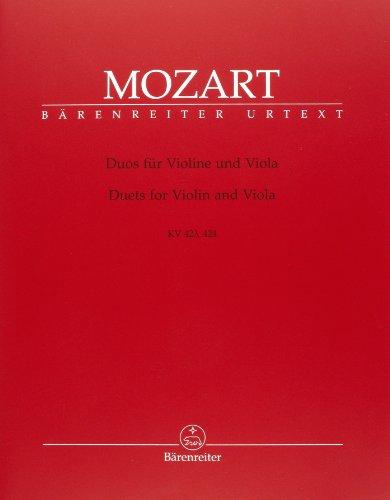 Duos für Violine und Viola KV 423, 424. BÄRENREITER URTEXT. Partitur, Stimme(n), Urtextausgabe, Sammelband
