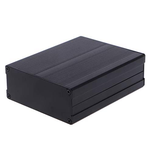 BIlinli Aluminiumgehäuse-Gehäuse DIY elektronisches Projekt schwarz Instrumentenkoffer 120x97x40mm