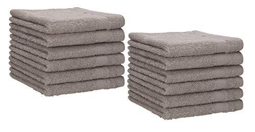 Betz 12 Asciugamani per Ospiti Palermo 100% Cotone Misure 30 x 50 cm Grigia Pietra