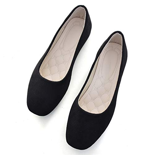 Top 10 best selling list for soft leather square mouth flat shoes